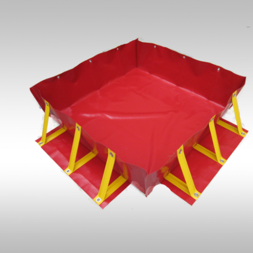 deployed pvc portable collapsible bund