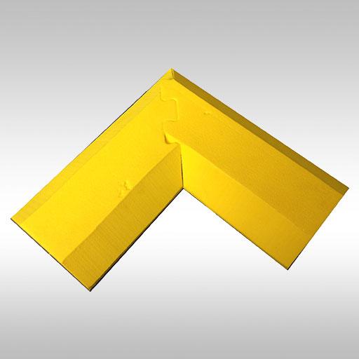 corner join of yellow EVA floor bunding