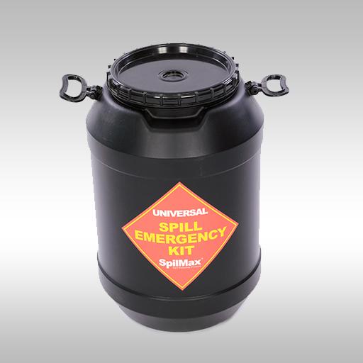 black Universal Spill Kit Drum