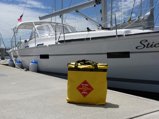 marine kit on dock in front of boat