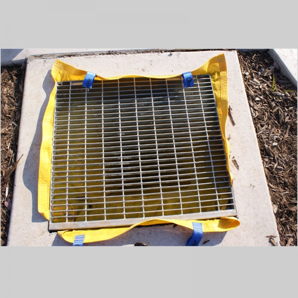 silt warden installed under the grate in a stormwater pit