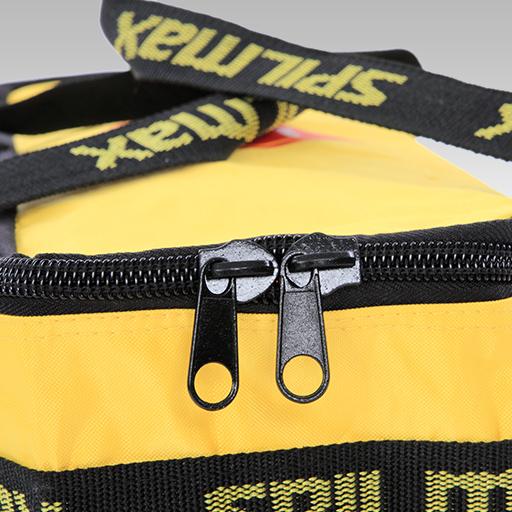 Fuel & Oil Vehicle Spill Kit Bag close up double zipper